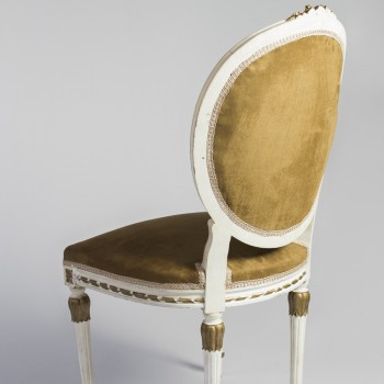 Cadeira Medalhão Pátina- Código CMP01